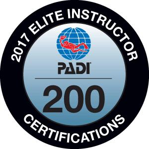 Phillip Hetherington PADI Elite Instructor Award 2017
